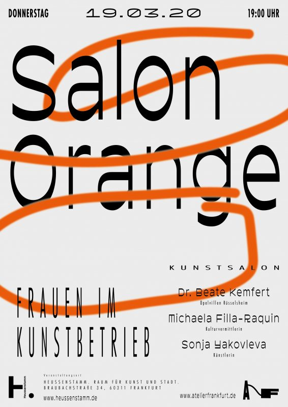 """Salon Orange"" Eventreihe Atelierfrankfurt"